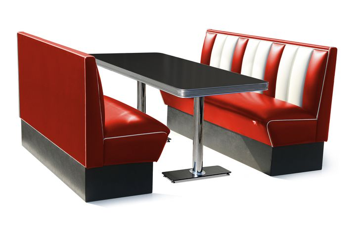 Retro Diner Booth Seating Hollywood Six Seater Set
