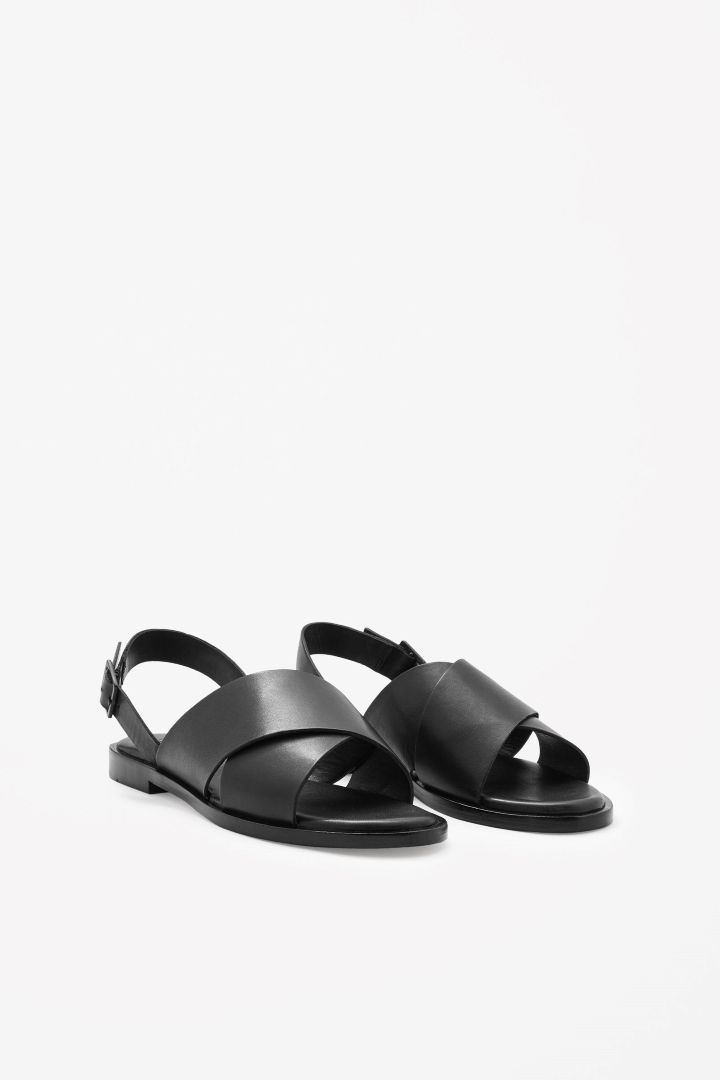 COS | Crossover leather sandals