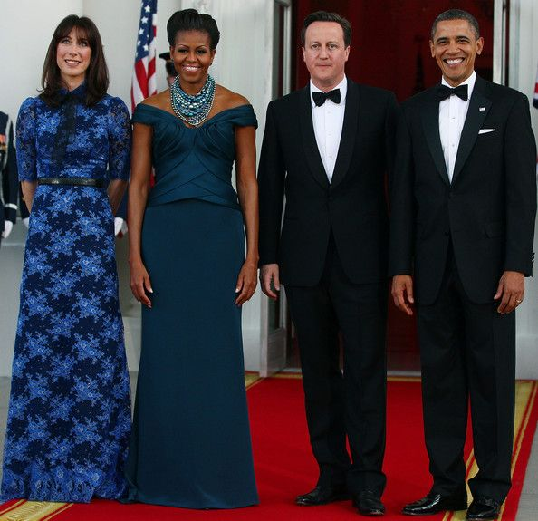 Michelle Obama Photo - President And Mrs. Obama Host Official Visit Of UK Prime Minister Cameron