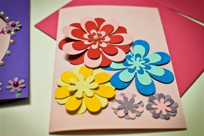 Как сделать красивые открытки к дню матери