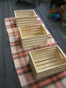Nine Red: DIY Antique Crate End Tables