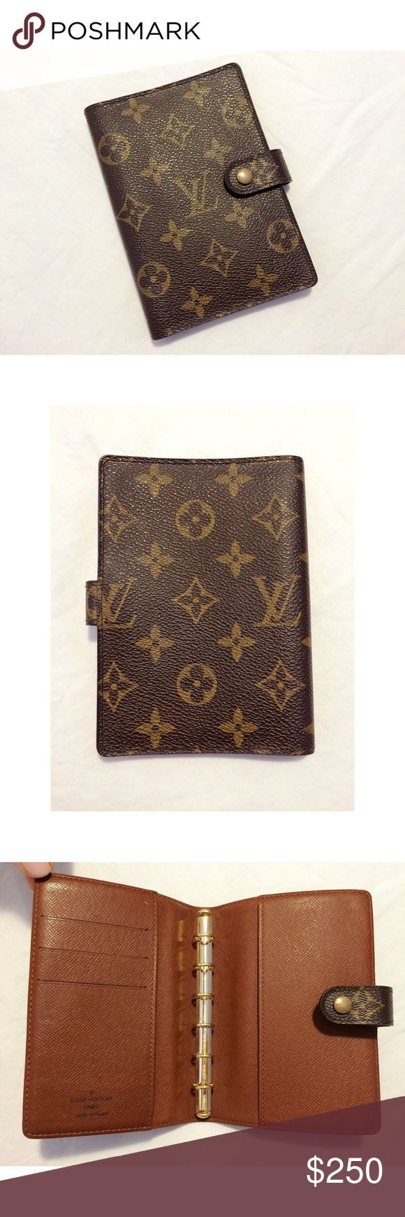 """Louis Vuitton Monogram Agenda Louis Vuitton classic monogram agenda PM diary cover.  Preowned, in very condition.  About 5.75"""" tall and 4"""" across.  Date code: CA0042.  No trades. Louis Vuitton Accessories"""