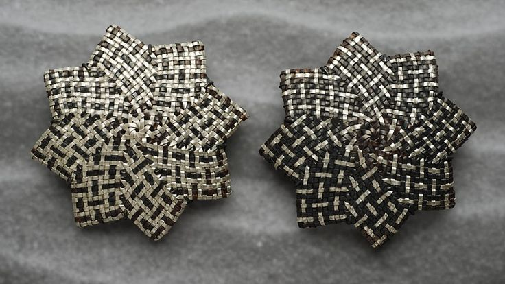 Brooches | Matthew McIntyre-Wilson.  Copper, fine silver and oxidised sterling silver.
