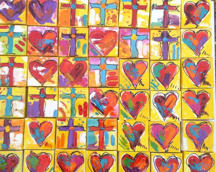 """Just in time for VALENTINES day For sale 4""""x4"""" $45 each"""