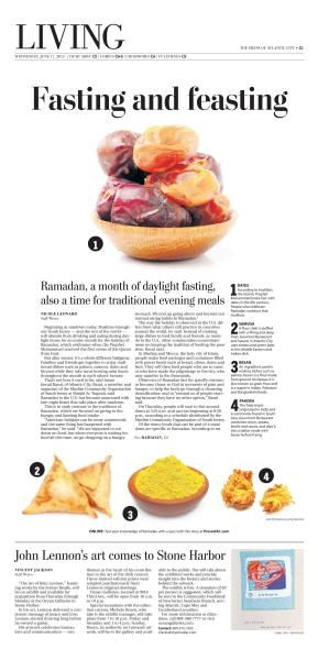 Ramadan Food Feature #Newspaper #Design #Layout #GraphicDesign