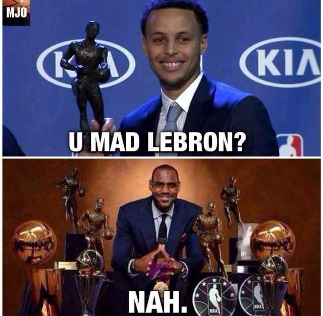 Stephen Curry (Golden State Warriors) and LeBron James (Cleveland Cavaliers)