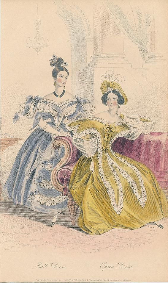 April, 1834 - Ball Dress, Opera Dress - Court Magazine