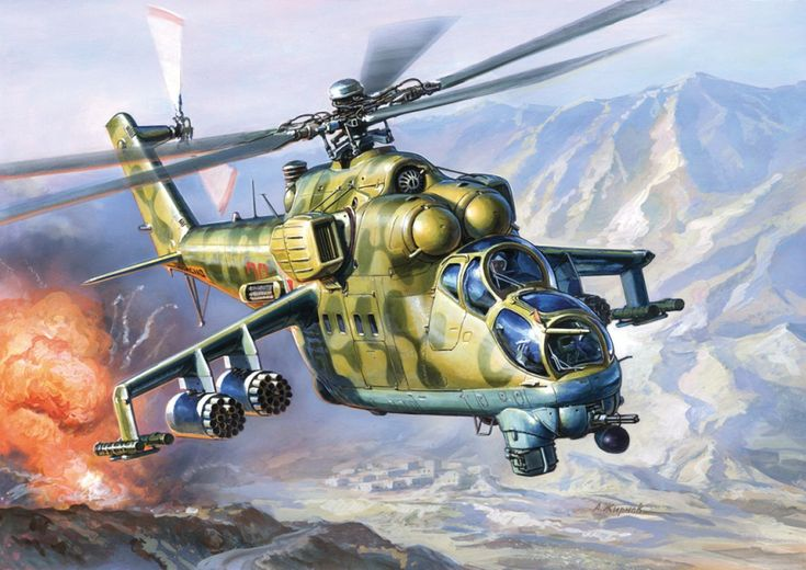 Soviet Mi-24 Hind on bombing mission in Afghanistan ...