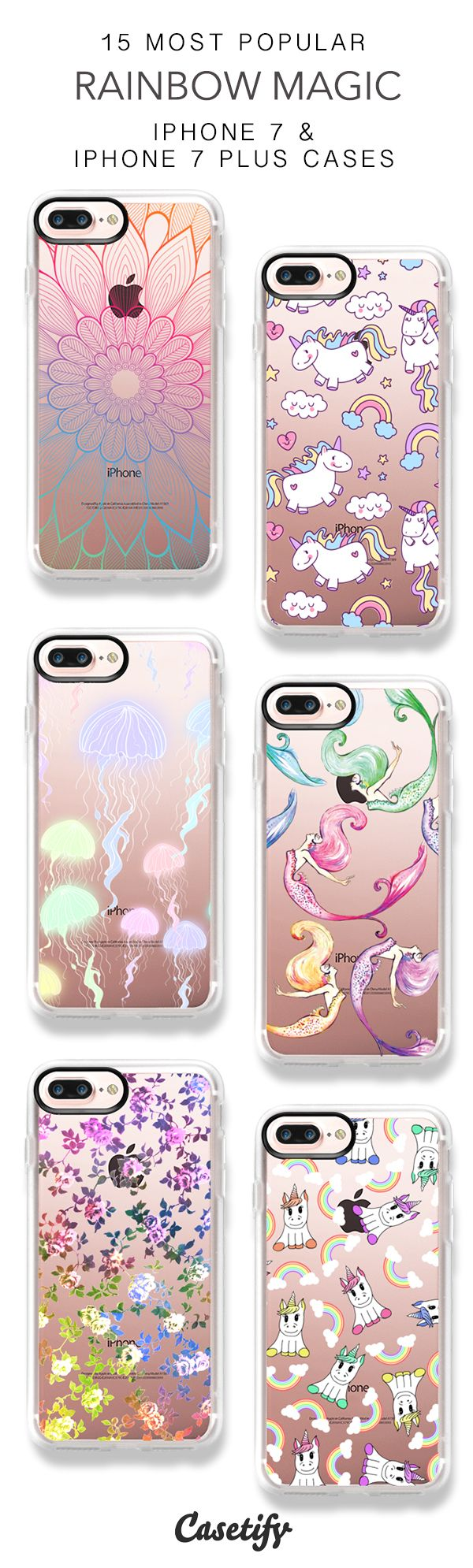 15 Most Popular Rainbow Magic iPhone 7 Cases and iPhone 7 Plus Cases. More Rainbow iPhone case here > https://www.casetify.com/collections/top_100_designs#/?vc=3KNutt6OJc http://amzn.to/2rwqPgY