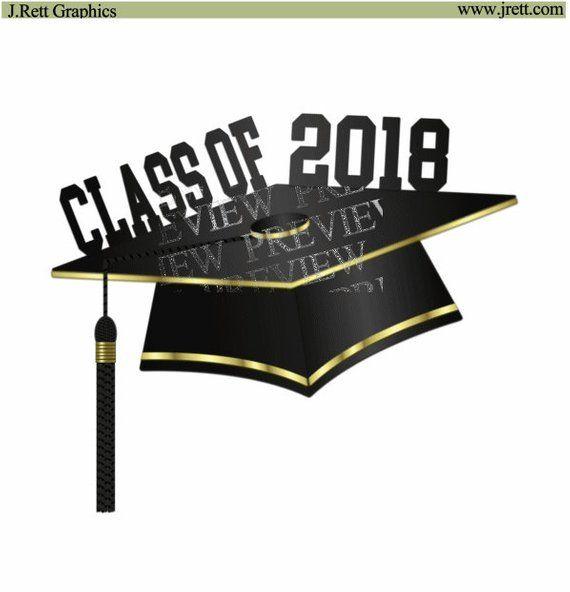 Graduation gold. Clipart more colors black