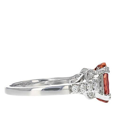 Gold & Diamond Source® 18K White Gold 2.95ctw Imperial Topaz and Diamond Ring