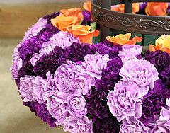 TIP: Purple with touches of orange and platinum look contemporary and hip.