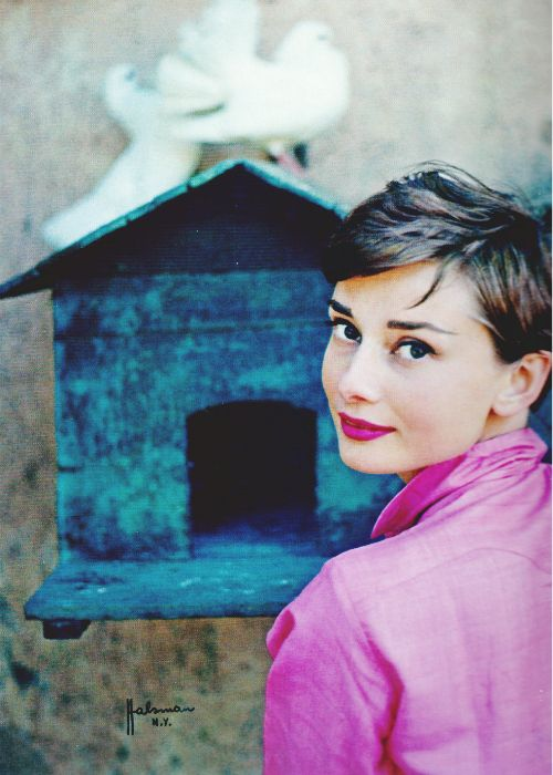 Audrey Hepburn in Italy, 1955. Photo: Philippe Halsman.