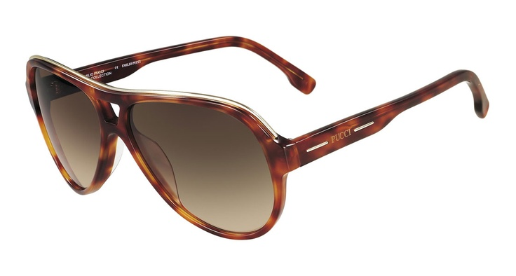 Emilio Pucci - 682S 214 - Exclusive runway piece: a Pucci interpretation of the aviator shape in two different colours
