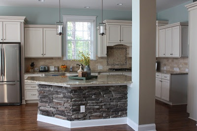 the butler blog: Stone Kitchen Island copen blue by SW