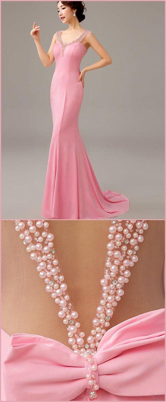 Alluring Stretch Charmeuse V-neck Neckline Full-length Mermaid Evening Dresses