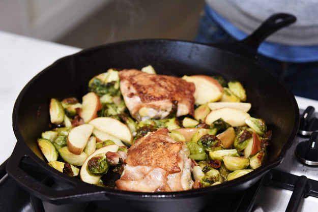 A quick, one-pan chicken dinner.
