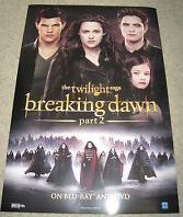 Twilight Breaking Dawn Part 2 – Cast Movie Poster 27x40 Used Nikki Reed, Christian Camargo, Lee Pace, Wendell Pierce, Ty Olsson, Cameron Bright, Peter Facinelli, Kellan Lutz, JD Pardo, Robert Pattinson, Andrea Powell, Chaske Spencer