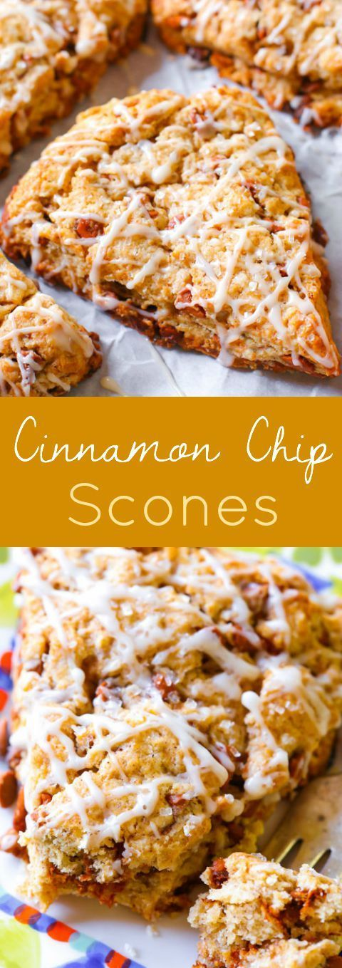 Tender and crumbly, these simple cinnamon chip scones taste like cinnamon rolls and are packed with sweet cinnamon chips!