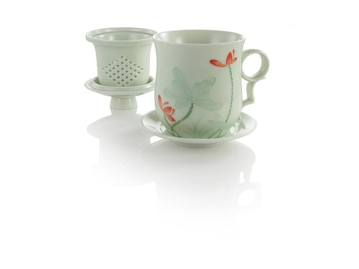 Green embossed lotus infuser mug at teavana teavana gadgets pinterest tea cups products - Imperial dragon cast iron teapot ...