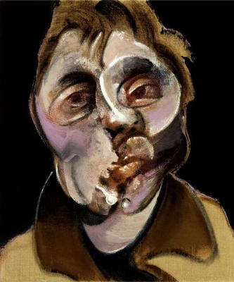 "Francis Bacon. Self-Portrait. 1969.   --I cannot help wondering what put him over the edge (if anything)--some artists are wack, some are just good at digging into what that ""wack"" must feel like..."