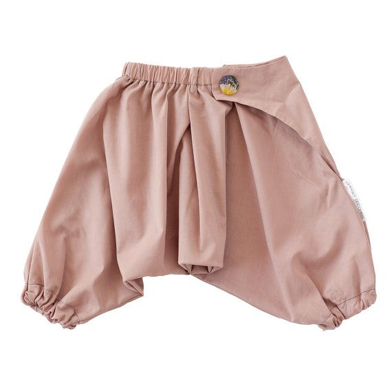 100 Cotton Japanese Baby Samurai Pants  Mushroom by cheekybritches, $33.95