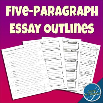 Great for writing opinion pieces and persuasive writing! These essay outlines help students visualize the organizational structure of a five-paragraph essay. Use these to help your students organize their thoughts when starting a rough draft. Each page consists of five blank paragraphs, with reminders of what to write in the blanks.