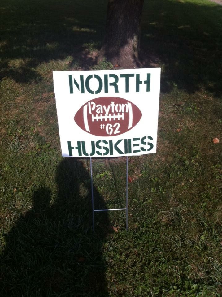 High school yard sign