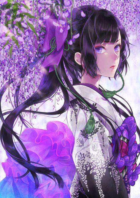 Sweet Scent of Wisteria Flowers - pixiv Spotlight