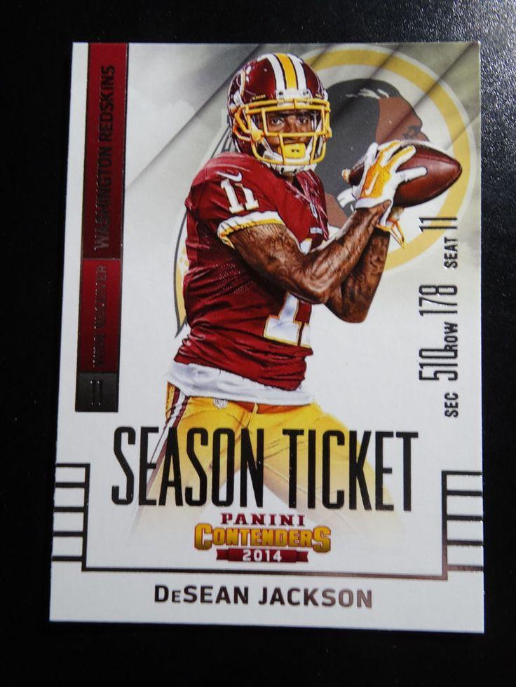2014 Panini Contenders Season Ticket #80 DeSean Jackson Washington Redskins Card #WashingtonRedskins