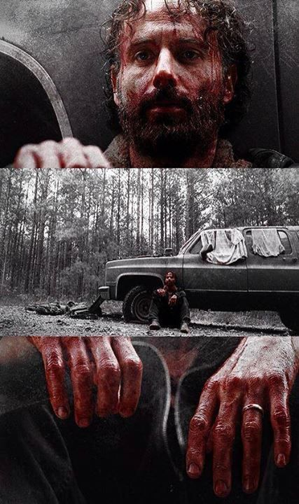 "The Walking Dead season 4 ep16 Rick this was an epic moment ""He's going savage!"""