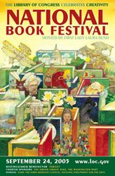 2005 Library of Congress National Book Festival Poster. Poster Artist: Jerry Pinkney.