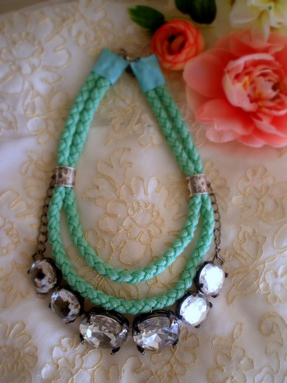 Statement Necklace by Vladi Lena by Vladilenashandmade on Etsy, $38.00