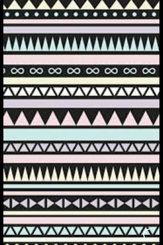Cute Pastel And Black Tribal Pattern Wallpaper Source Cocoppa
