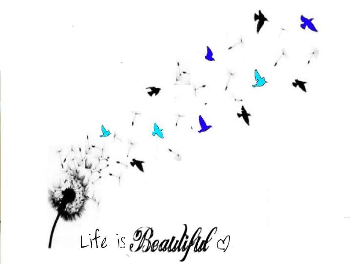Beautiful Birds & Dandelion Tattoo Image