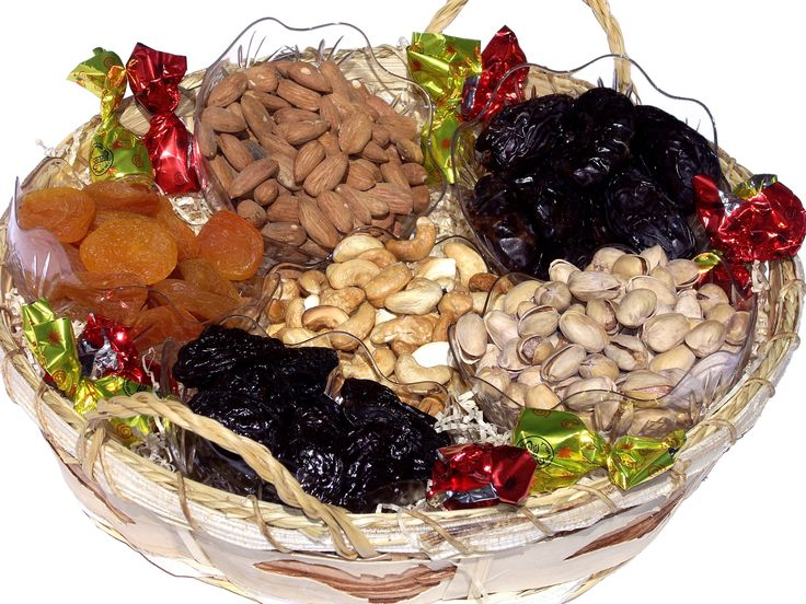 Mishloach Manot - Deluxe Dried Fruit and Nuts Basket great idea! Something healthy!