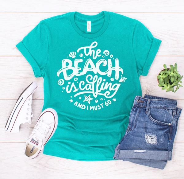 87cf3467f The Beach is Calling' Signature Graphic Tee (Ships in 2 Weeks) in ...