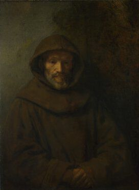 Rembrandt painted a young man (his son Titus?) in a Franciscan habit in 1660 (Rijksmuseum, Amsterdam), and there is a third portrait study of a Franciscan, dated 1661 (Helsinki, Atheneum). In their own day these paintings were probably considered to be 'tronies' (literally, heads), which were not meant to depict identifiable individuals. The sitter is instead depicted in a particular role, or as a character study. Pictures of this kind were popular among 17th-century collectors and can often…