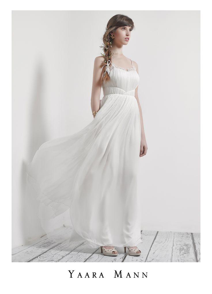 """Athena"" wedding dress from Yaara Mann's collection 2014 100% silk www.yaaramann.com"