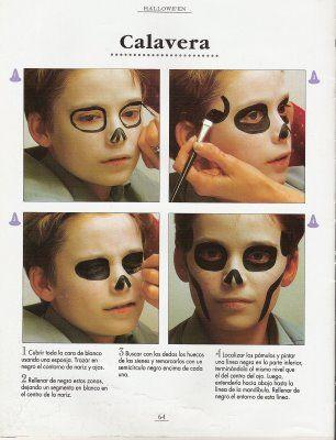 Maquillaje de calavera para niños