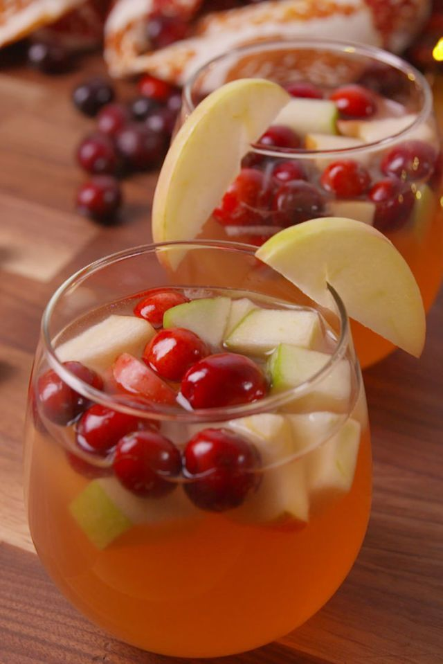 Oh, you thought sangria season was over? Get the recipe from Delish.