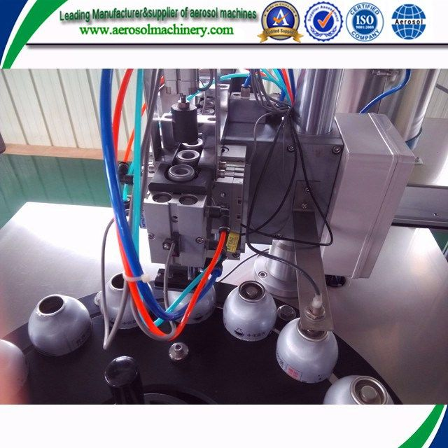 Automatic Aerosol Spray Can Refill Machine With The Best Quality Aerosol Machinery Packaging Machine Spray Can Aerosol Machine