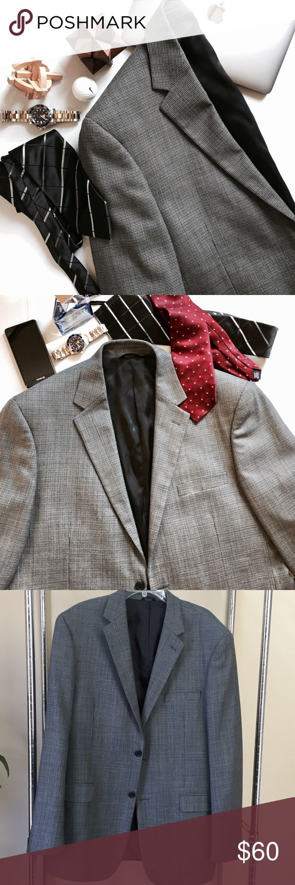 Andrew Fezza  Men's Wool Blazer Gray tweed wool blazer, lined, absolutely beautiful, size 44 Long, can pair with dress shirt and tie, as part of a suit, or dress it down for a casual look, has been well taken care of, only worn a couple of times. Andrew Fezza Jackets & Coats Blazers