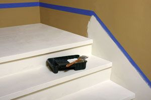 Faux Baseboard on Stairs - Step by Step - Lowe's Creative Ideas