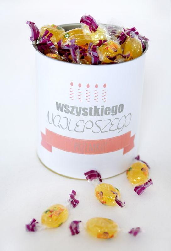 Puszka na prezent urodzinowy/imieninowy ze słodkościami http://3dpoint.pl/?page_id=15242