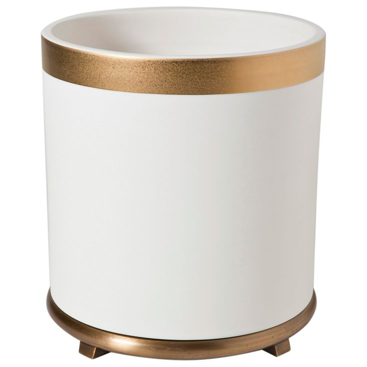 34 best images about bin on pinterest trash bins for Gold bathroom bin