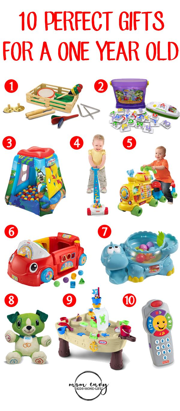 10 Perfect gifts for a one year old. Great Christmas gift ideas for a one year old.  #giftideas #christmasgifts #oneyearold #giftlist
