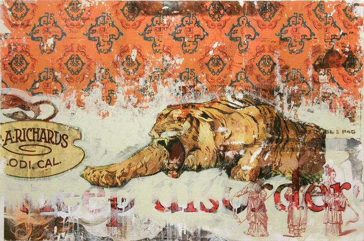 year-of-the-tiger.jpg (850×564) #MixedMedia #BryanHolland