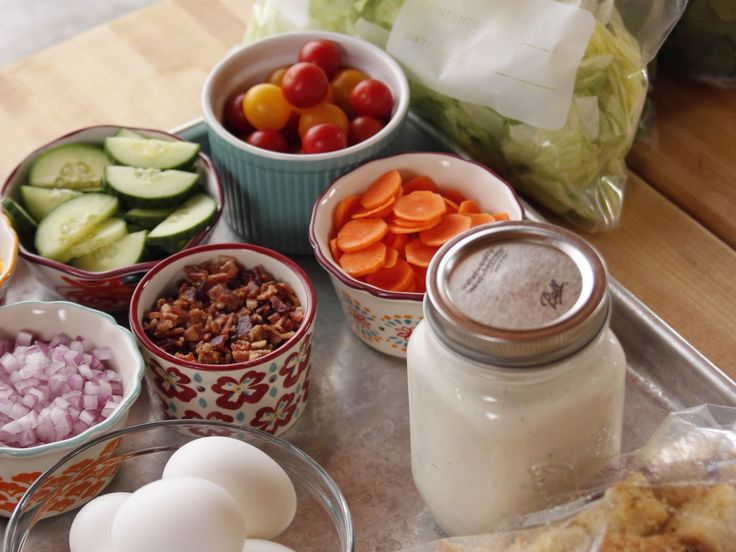 Make-Your-Own-Salad with Yummy Dressing recipe from Ree Drummond  The Pioneer Woman via Food Network