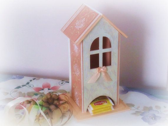 Original tea bags holder wooden tea box storage wood by GattyGatty, $35.00